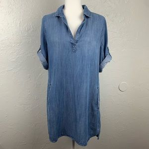 Anthropologie: Cloth & Stone Elena chambray dress